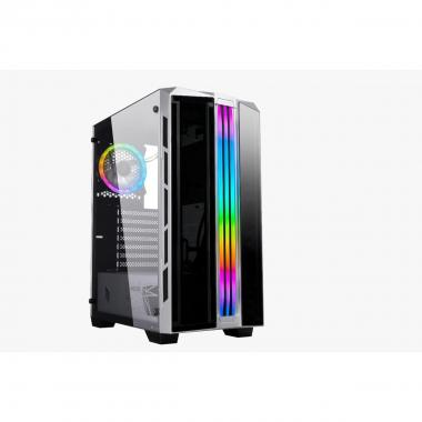Case Atx Noua Diamond C6 Black 0.55mm SPCC 3*Usb3.0/2.0 1*Fan Rgb Addressable 1*Strip ADD-RGB Front ABS/Glass Side Glass