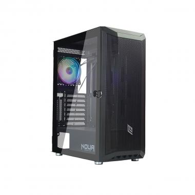 Case Atx Noua Orizon M3 Mesh Black 0.6mm SPCC 3*Usb3.0/2.01*Fan Triplo Halo Addressable 5V Side Glass