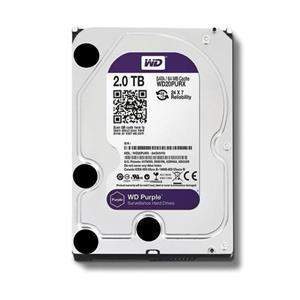 Hard Disk 2000GB 2TB Western Digital WD20PURZ 64MB Purple SATA 6 GB/s